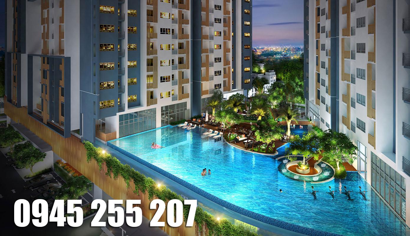 Căn góc view hồ bơi tuyệt đẹp Topaz Twins Biên Hòa, đường Võ Thị Sáu, 2PN tổng giá 2.61 tỷ LH 0945 255 207 PKD2 để được hỗ trợ